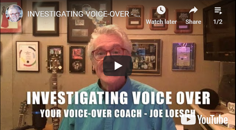 IVO 9/24   Thursday Evening <br>INVESTIGATING VOICE OVERS with JOE LOESCH